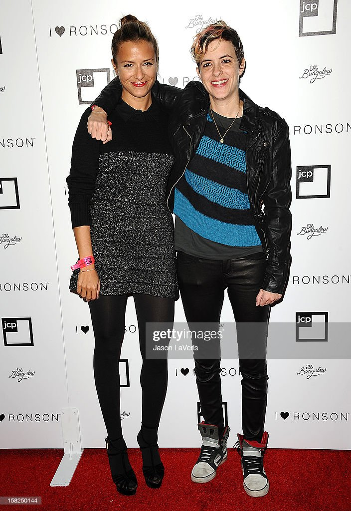 Designer Charlotte Ronson and DJ <a gi-track='captionPersonalityLinkClicked' href=/galleries/search?phrase=Samantha+Ronson&family=editorial&specificpeople=214678 ng-click='$event.stopPropagation()'>Samantha Ronson</a> attend the I Heart Ronson celebration at The Bungalow on December 11, 2012 in Santa Monica, California.