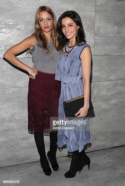 Designer Charlotte Ronson and Shoshanna Lonstein attend the Charlotte Ronson fashion show during MercedesBenz Fashion Week Fall 2015 at The Pavilion...
