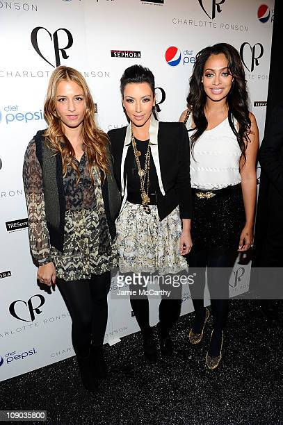 Designer Charlotte Ronson and TV personalities Kim Kardashian and LaLa Vazquez attend the Charlotte Ronson Fall 2011 Fashion show presented by Diet...
