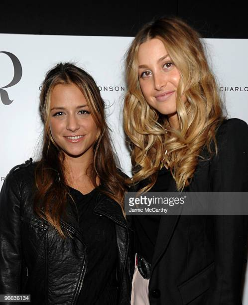 Designer Charlotte Ronson and TV personality Whitney Port pose backstage at the Charlotte Ronson Fall 2010 Fashion Show during MercedesBenz Fashion...