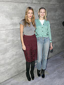 Designer Charlotte Ronson poses for a picture with Annabelle Dexter Jones during Charlotte Ronson Front Row Backstage MercedesBenz Fashion Week Fall...