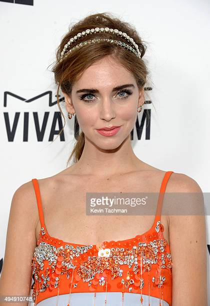 Designer Chiara Ferragni arrives at the amfAR Inspiration Gala at Milk Studios on October 29 2015 in Hollywood California