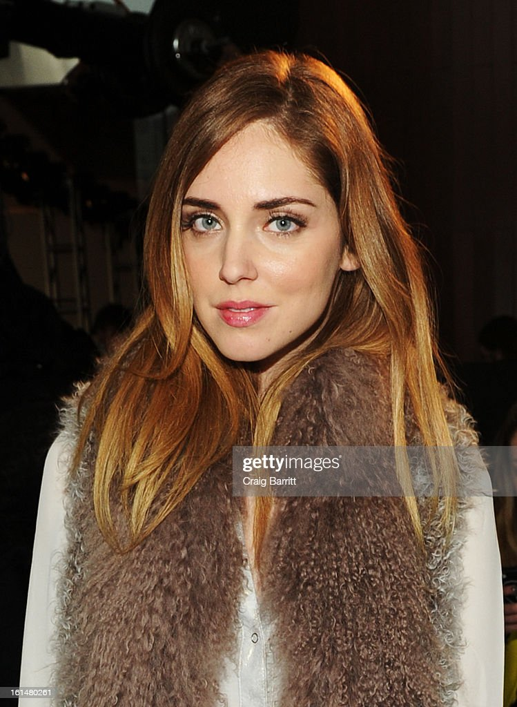 Designer <a gi-track='captionPersonalityLinkClicked' href=/galleries/search?phrase=Chiara+Ferragni&family=editorial&specificpeople=6755910 ng-click='$event.stopPropagation()'>Chiara Ferragni</a> attends the DL 1961 Premium Denim Fall 2013 fashion show during Mercedes-Benz Fashion Week at Alice Tully Hall on February 11, 2013 in New York City.