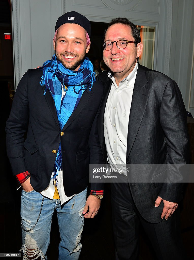 Designer Chris Benz and Co-President of Sony Pictures Classics Michael Barker attend 'The Company You Keep' New York Premiere After Party at Harlow on April 1, 2013 in New York City.
