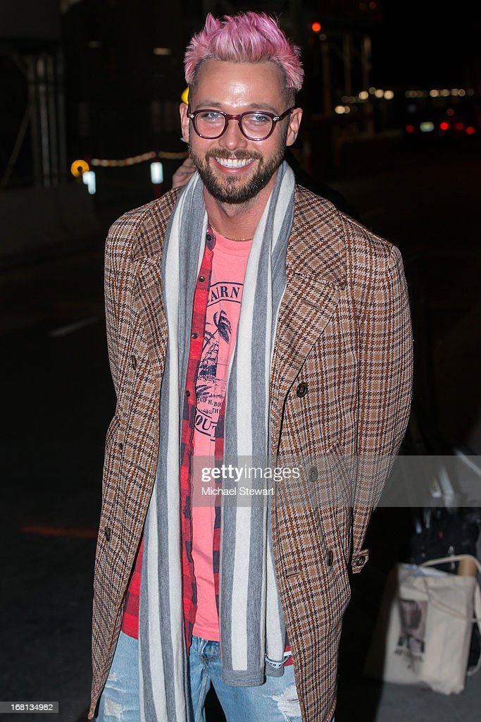 Designer Chris Benz seen on the streets of Manhattan on May 5, 2013 in New York City.