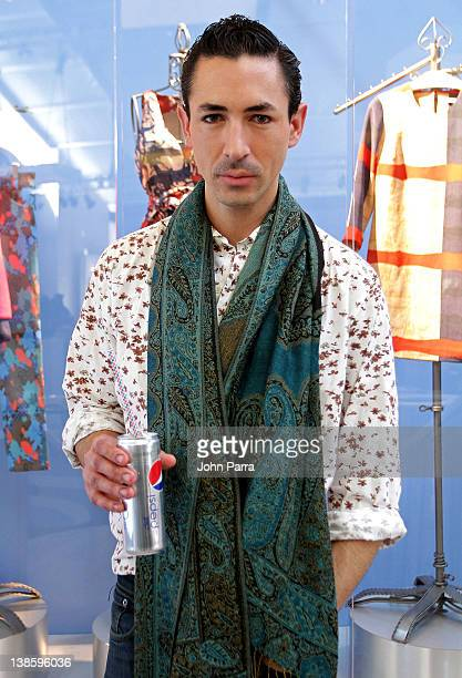 Designer Christian Cota attends Diet Pepsi x Christian Cota Capsule Collection Preview at Diet Pepsi Refresh Lounge at Lincoln Center on February 9...