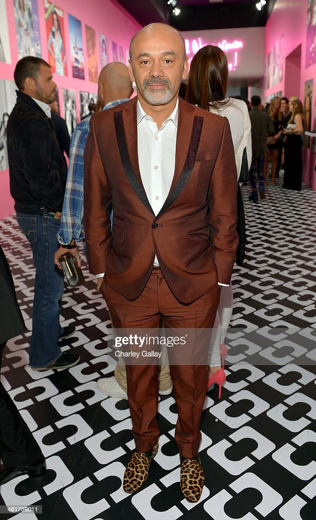 Designer Christian Louboutin attends Diane Von Furstenberg's Journey of A Dress Exhibition Opening Celebration at May Company Building at LACMA West...