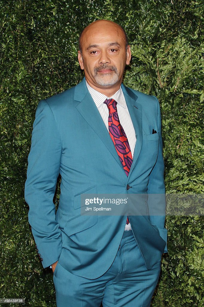 Designer Christian Louboutin attends the 12th annual CFDA/Vogue Fashion Fund Awards at Spring Studios on November 2, 2015 in New York City.