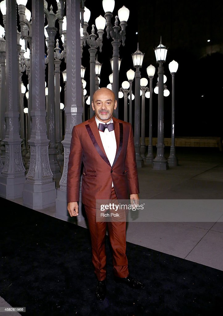 Designer Christian Louboutin attends the 2014 LACMA Art Film Gala honoring Barbara Kruger and Quentin Tarantino presented by Gucci at LACMA on...