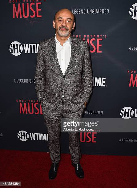 Designer Christian Louboutin attends the premiere of Showtime's 'Kobe Bryant's Muse' at The London Hotel on February 26 2015 in West Hollywood...