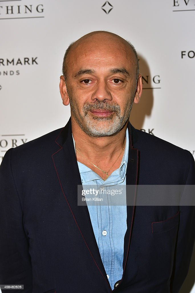 Designer Christian Louboutin attends the 'Theory of Everything' New York Screening at Lighthouse International Theater on November 5 2014 in New York...
