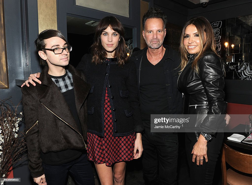Designer Christian Siriano, Alexa Chung, Nylon editor-in-chief Marvin Scott Jarrett and Nylon publisher Jaclynn Jarrett attend NYLON + Sanuk celebrate the October 'It Girl' issue with cover star Alexa Chung at La Cenita on October 8, 2013 in New York City.