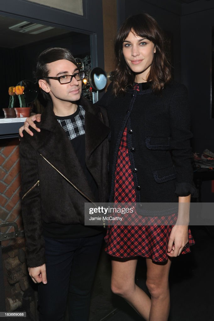 Designer Christian Siriano and <a gi-track='captionPersonalityLinkClicked' href=/galleries/search?phrase=Alexa+Chung&family=editorial&specificpeople=3141821 ng-click='$event.stopPropagation()'>Alexa Chung</a> attend NYLON + Sanuk celebrate the October 'It Girl' issue with cover star <a gi-track='captionPersonalityLinkClicked' href=/galleries/search?phrase=Alexa+Chung&family=editorial&specificpeople=3141821 ng-click='$event.stopPropagation()'>Alexa Chung</a> at La Cenita on October 8, 2013 in New York City.