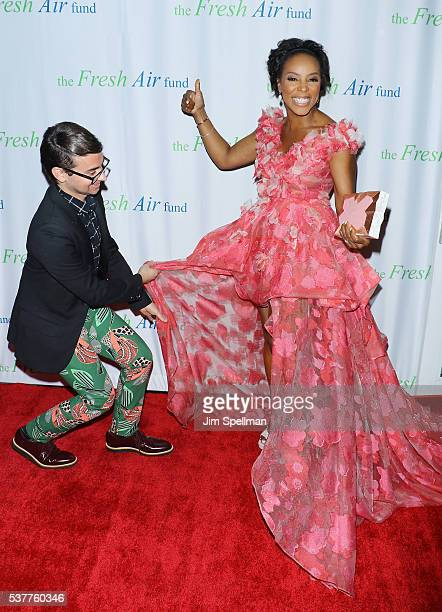 Designer Christian Siriano and fashion stylist June Ambrose attend the Fresh Air Fund 140th Birthday Celebration and 2016 Spring Benefit at Pier...