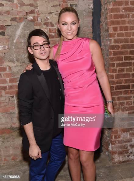 Designer Christian Siriano and Lindsey Vonn attend Christian Siriano during MercedesBenz Fashion Week Spring 2015 at Eyebeam Atelier on September 6...
