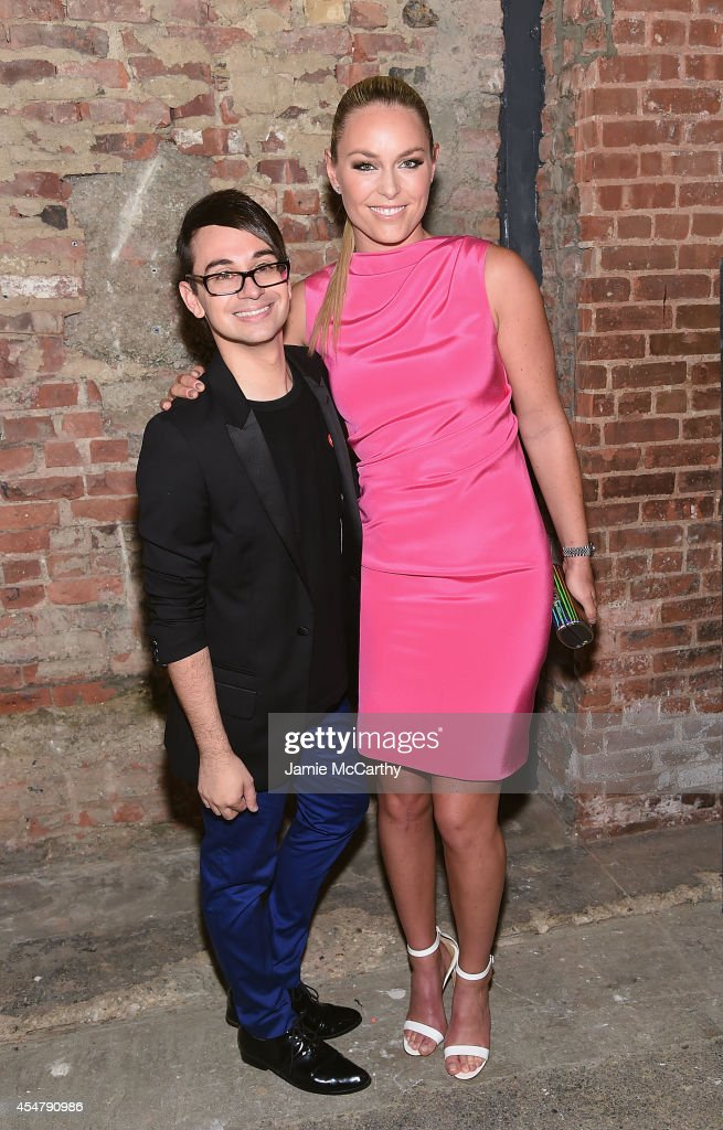 Designer Christian Siriano and Lindsey Vonn attend Christian Siriano during MercedesBenz Fashion Week Spring 2015 at Eyebeam Atelier on September 6...
