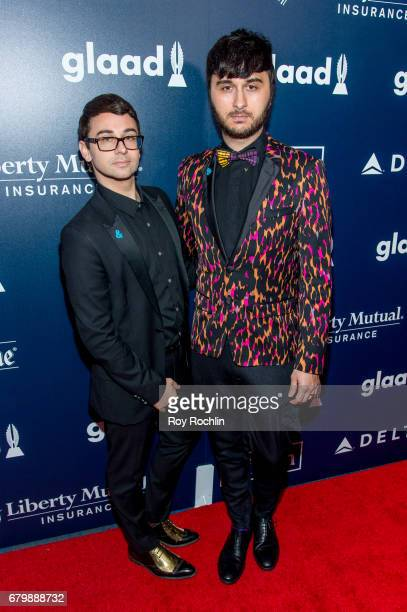 Designer Christian Siriano and singer Brad Walsh attend the 28th Annual GLAAD Awards at New York Hilton Midtown on May 6 2017 in New York City