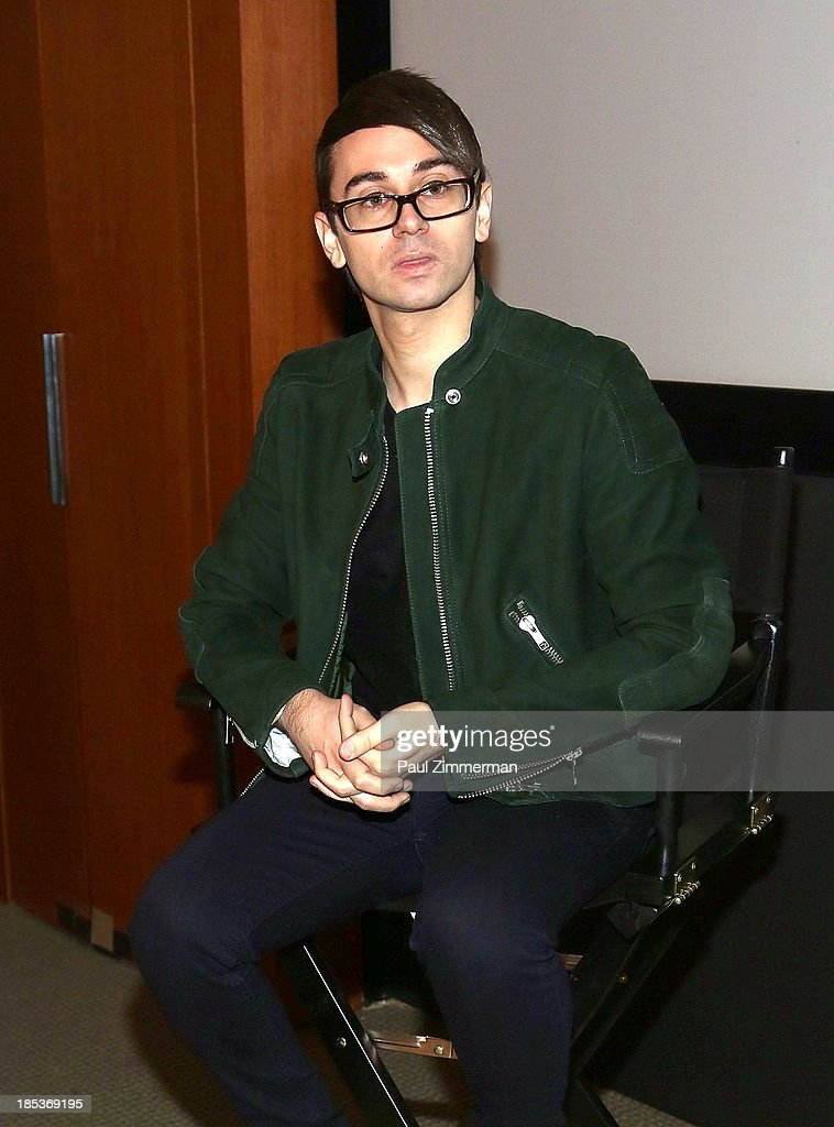 Designer Christian Siriano attend the 8th Annual Teen Vogue University at Conde Naste Building on October 19, 2013 in New York City.