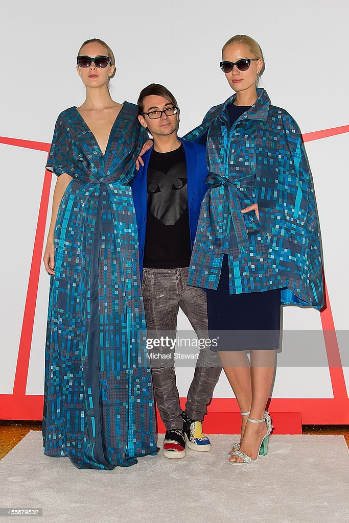 Designer Christian Siriano attends Christian Siriano And Verizon Social Imprint Garment Unveiling at Gilded Lily on September 18 2014 in New York City