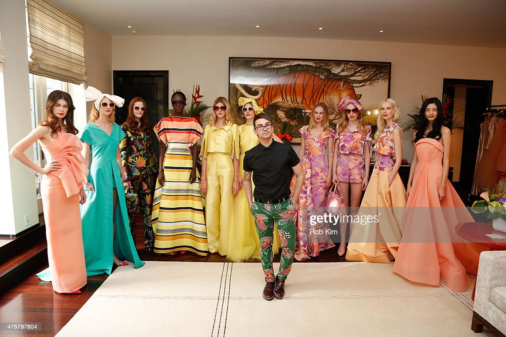 Designer Christian Siriano attends Christian Siriano Resort 2016 collection preview at Private Residence on June 3 2015 in New York City