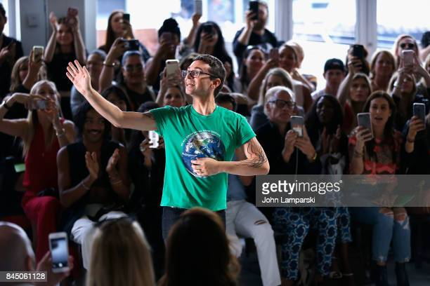 Designer Christian Siriano attends the Christian Siriano collection during the September 2017 New York Fashion Week The Shows at Pier 59 on September...