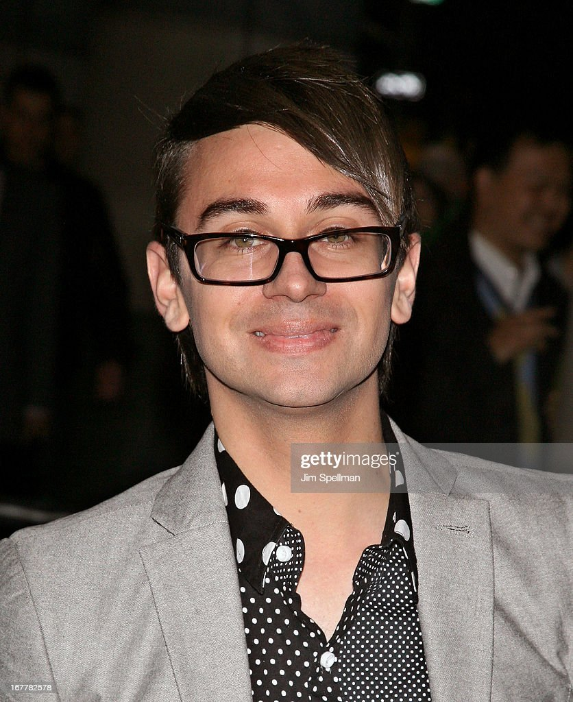 Designer Christian Siriano attends the Cinema Society with Swarovski & Grey Goose premiere of eOne Entertainment's 'Scatter My Ashes At Bergdorf's' at Florence Gould Hall on April 29, 2013 in New York City.