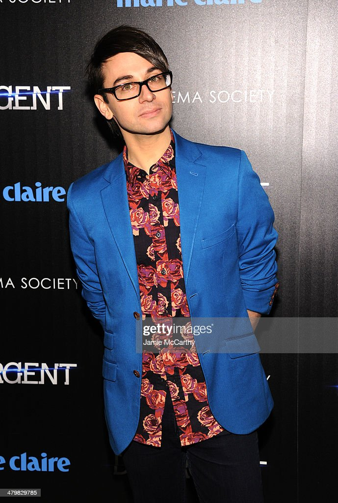 Designer <a gi-track='captionPersonalityLinkClicked' href=/galleries/search?phrase=Christian+Siriano+-+Fashion+Designer&family=editorial&specificpeople=4859969 ng-click='$event.stopPropagation()'>Christian Siriano</a> attends the Marie Claire & The Cinema Society screening of Summit Entertainment's 'Divergent' at Hearst Tower on March 20, 2014 in New York City.