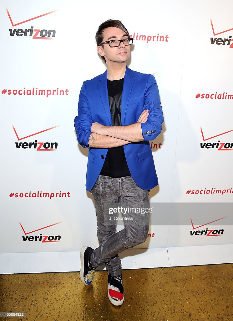 Designer Christian Siriano attends the Verizon Social Imprint Garment Unveiling at Gilded Lily on September 18 2014 in New York City