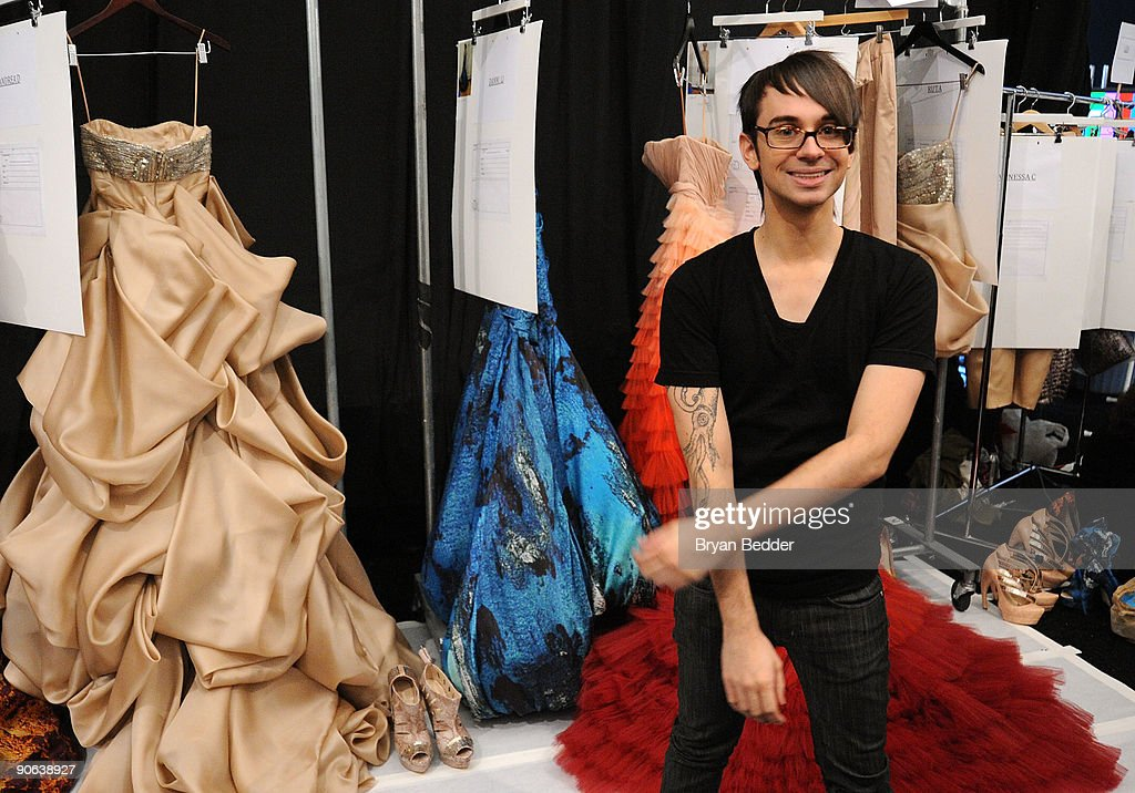 Designer Christian Siriano backstage at the Christian Siriano Spring 2010 Fashion Show at the Promenade at Bryant Park on September 12 2009 in in New...