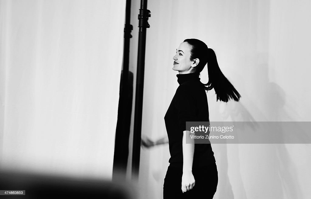 Designer Christine Phung acknoledges the applause of the public after the Christine Phung show as part of the Paris Fashion Week Womenswear...