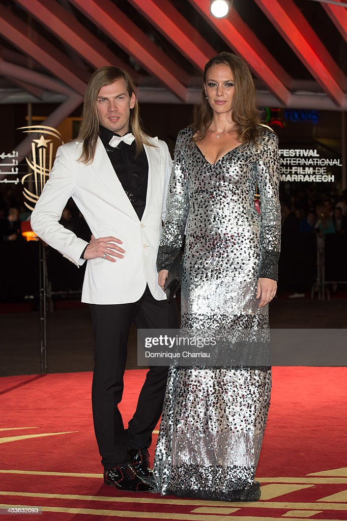Designer Christophe Guillarme and Actress Sonia Okacha attend the 'Waltz With Monica' Premiere At 13th Marrakech International Film Festival on December 4, 2013 in Marrakech, Morocco.
