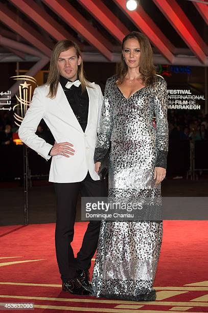 Designer Christophe Guillarme and Actress Sonia Okacha attend the 'Waltz With Monica' Premiere At 13th Marrakech International Film Festival on...