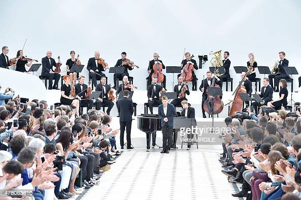Designer Christopher Bailey walks the runway during the Burberry Prorsum Ready to Wear Spring Summer 2016 fashion show during London Menswear Fashion...