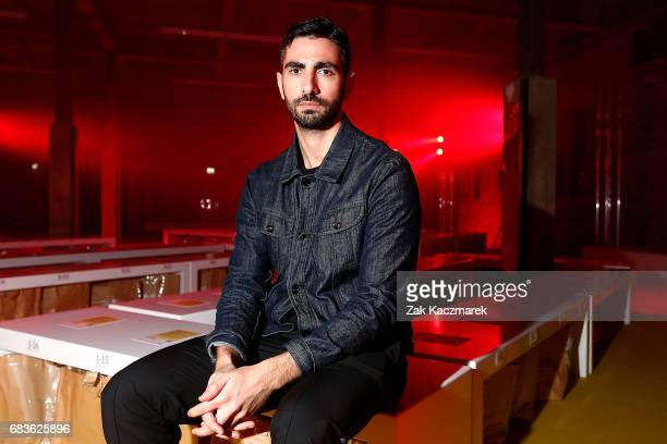 Designer Christopher Esber poses backstage ahead of the Christopher Esber show at MercedesBenz Fashion Week Resort 18 Collections at The Clothing...