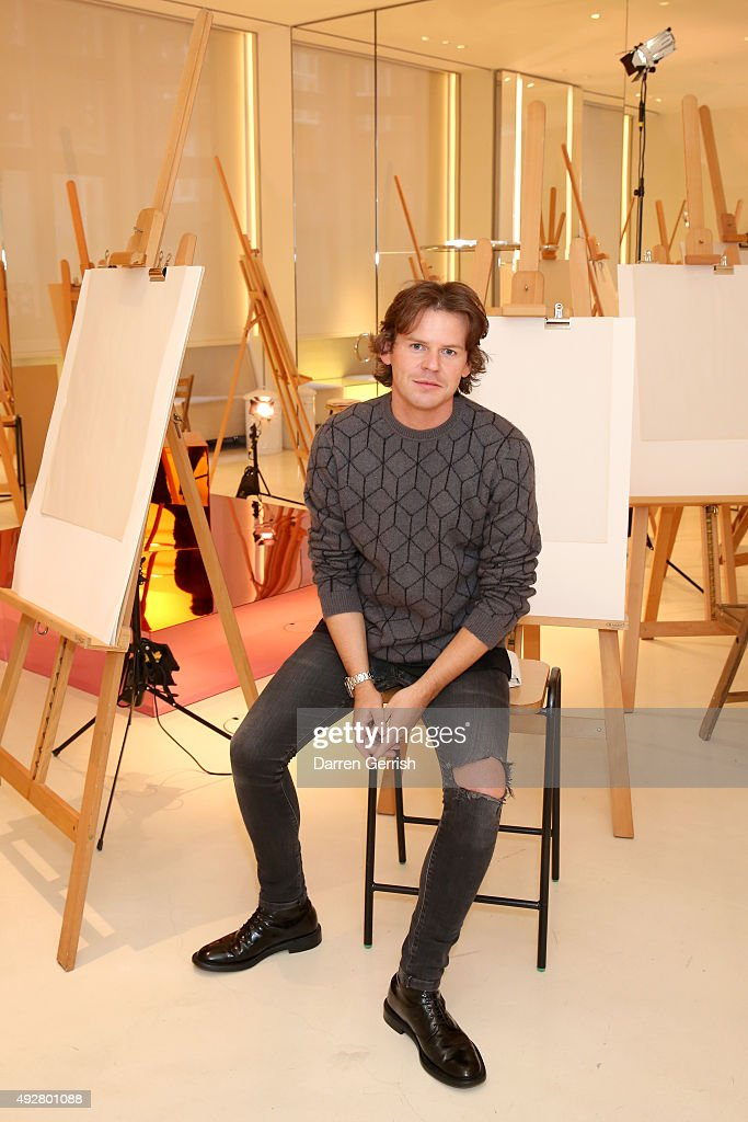 Designer Christopher Kane attends the Christopher Kane Art Class 2015 at Christopher Kane Flagship 67 Mount Street on October 15 2015 in London...