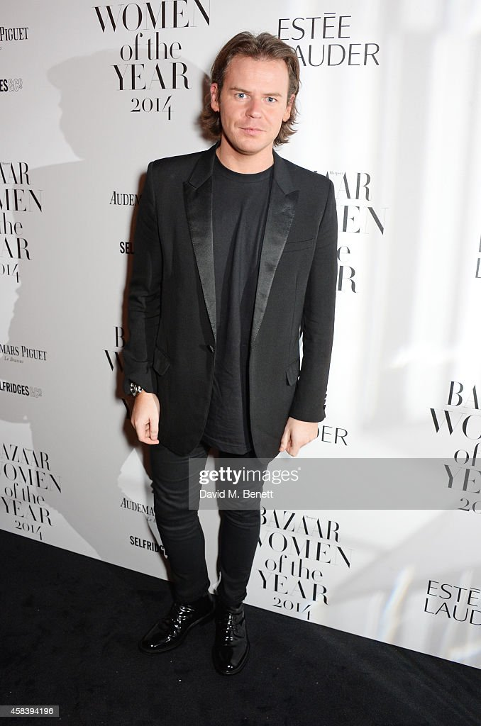 Designer Christopher Kane attends the Harper's Bazaar Women Of The Year awards 2014 at Claridge's Hotel on November 4 2014 in London England