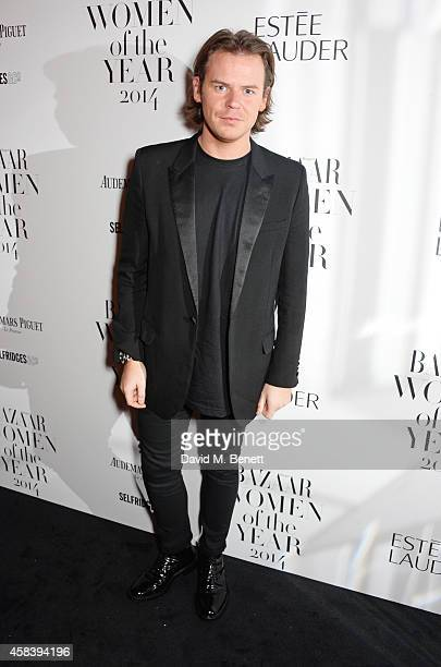 Designer Christopher Kane attends the Harper's Bazaar Women Of The Year awards 2014 at Claridge's Hotel on November 4 2014 in London England
