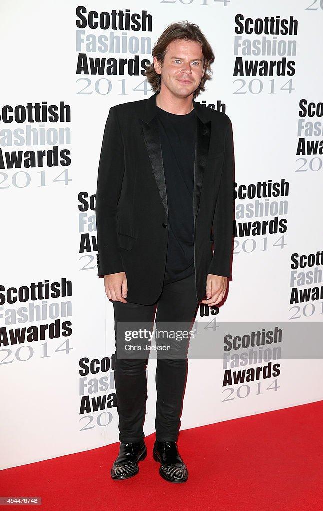 Designer Christopher Kane attends The Scottish Fashion Awards on September 1 2014 in London England