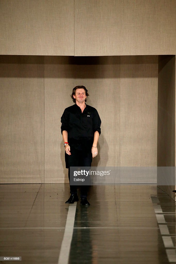 Designer Christopher Kane walks the runway at the Christopher Kane show during London Fashion Week Spring/Summer collections 2017 on September 19, 2016 in London, United Kingdom.