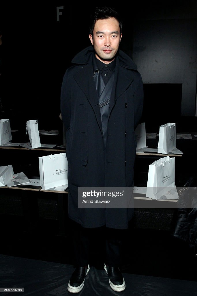 Designer Chung Chung Lee attends the Concept Korea Fall 2016 fashion show during New York Fashion Week: The Shows at The Dock, Skylight at Moynihan Station on February 12, 2016 in New York City.