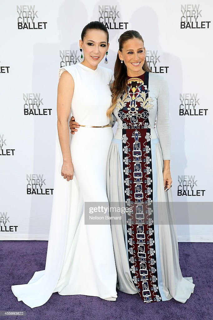 Designer Cindy Chao and Sarah Jessica Parker attend the New York City Ballet 2014 Fall Gala at David H Koch Theater at Lincoln Center on September 23...