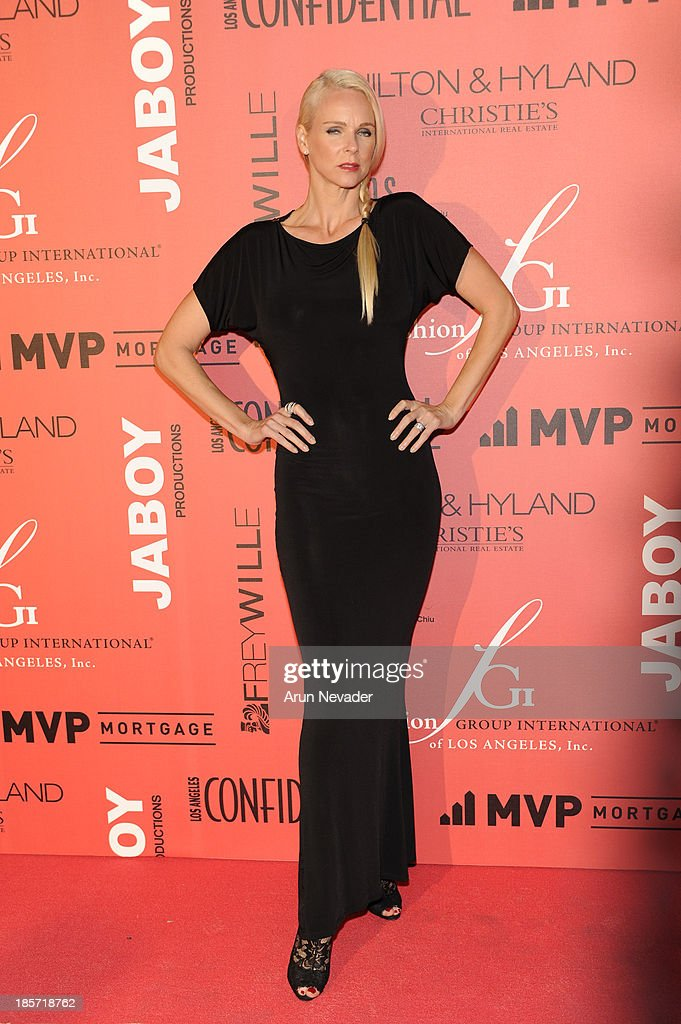Designer Claire Farwell arrives at the 5th Annual Designer & The Muse Hosted By <a gi-track='captionPersonalityLinkClicked' href=/galleries/search?phrase=Kathy+Hilton&family=editorial&specificpeople=209306 ng-click='$event.stopPropagation()'>Kathy Hilton</a> at Mr. C Beverly Hills on October 23, 2013 in Beverly Hills, California.