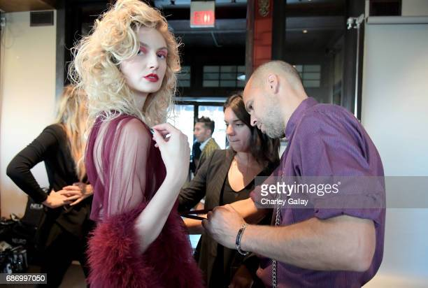 Designer Claude Morais at the Wolk Morais Collection 5 Fashion Show at Yamashiro on May 22 2017 in Los Angeles California