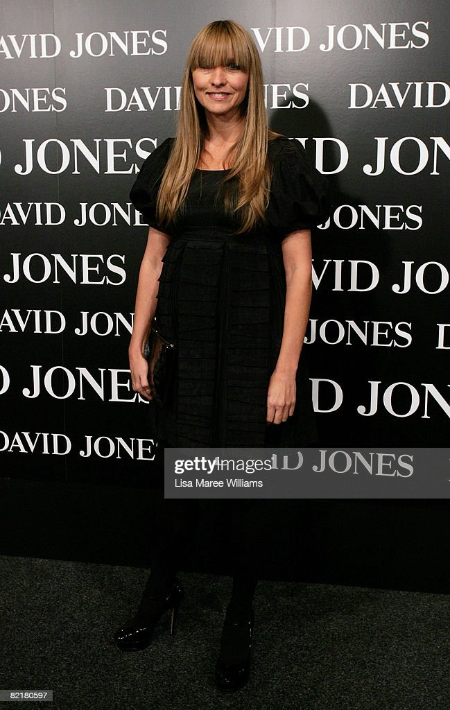Designer Collette Dinnigan arrives on the red carpet at the David Jones Summer 2008 Collections Launch 'Summer In The City' event at the Royal Hall...