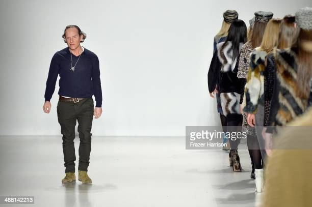 Designer Custo Dalmau walks the runway at the Custo Barcelona fashion show during MercedesBenz Fashion Week Fall 2014 at The Salon at Lincoln Center...