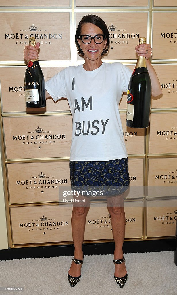 Designer Cynthia Rowley attends the Moet & Chandon Suite at the USTA Billie Jean King National Tennis Center on August 28, 2013 in New York City.