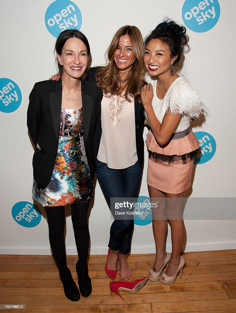 Designer Cynthia Rowley, TV Personalities Kelly Bensimon and Jeannie Mai attend the OpenSky Pop-Up Gallery launch at 477 Broome Street on November 10, 2011 in New York City.