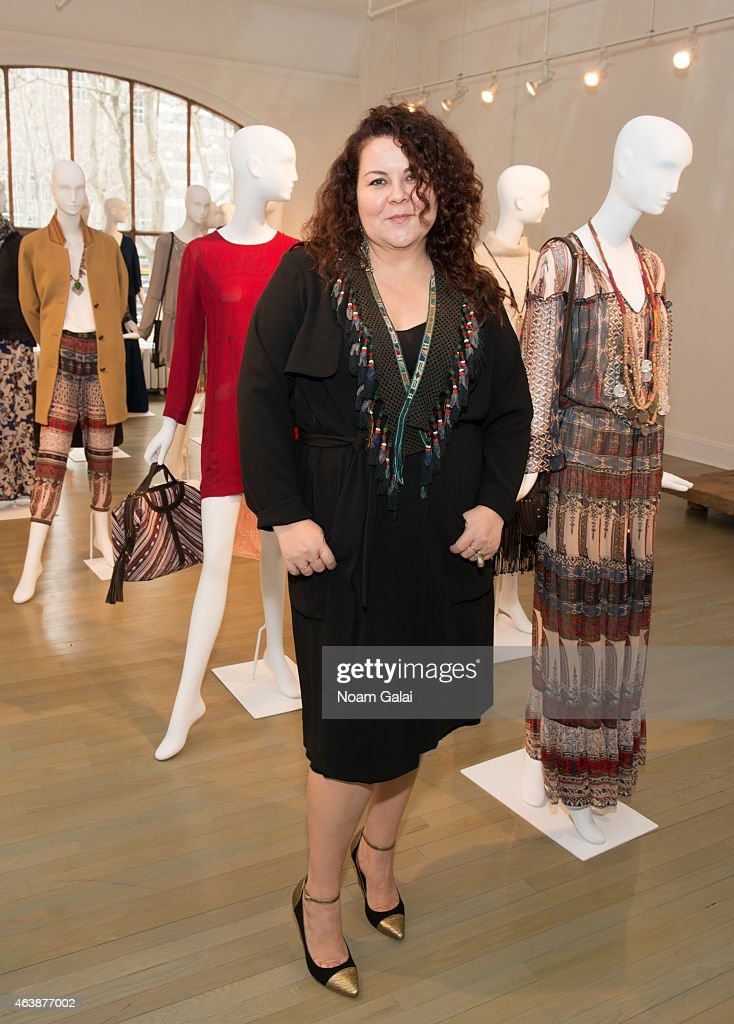 Designer Cynthia Vincentposes at the Cynthia Vincent presentation during MercedesBenz Fashion Week Fall 2015 on February 19 2015 in New York City