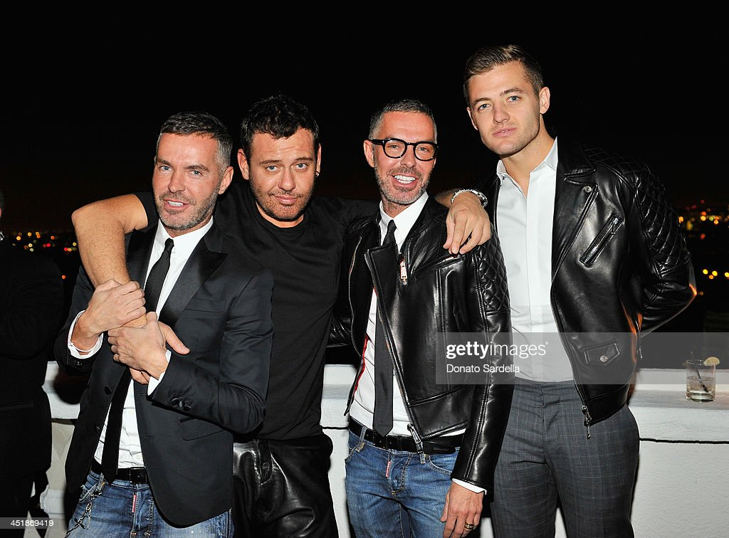 Designer Dan Caten, photographer Mert Alas, designer Dean Caten and soccer player Robbie Rogers attend a private dinner in honor of Jennifer Lopez hosted by Dean and Dan of Dsquared2 at Chateau Marmont on November 24, 2013 in Los Angeles, California.