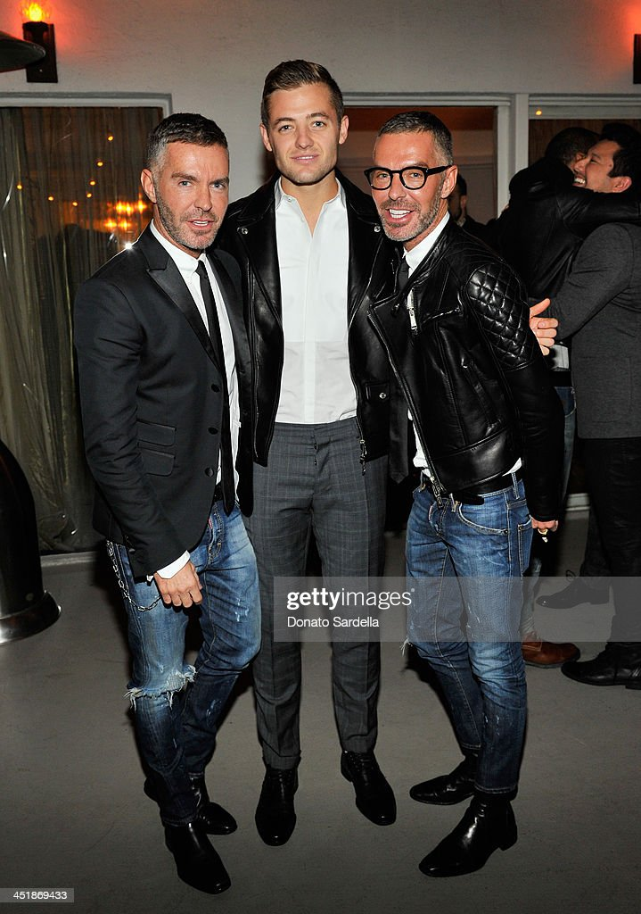 Designer Dan Caten, soccer player Robbie Rogers and designer Dean Caten attend a private dinner in honor of Jennifer Lopez hosted by Dean and Dan of Dsquared2 at Chateau Marmont on November 24, 2013 in Los Angeles, California.